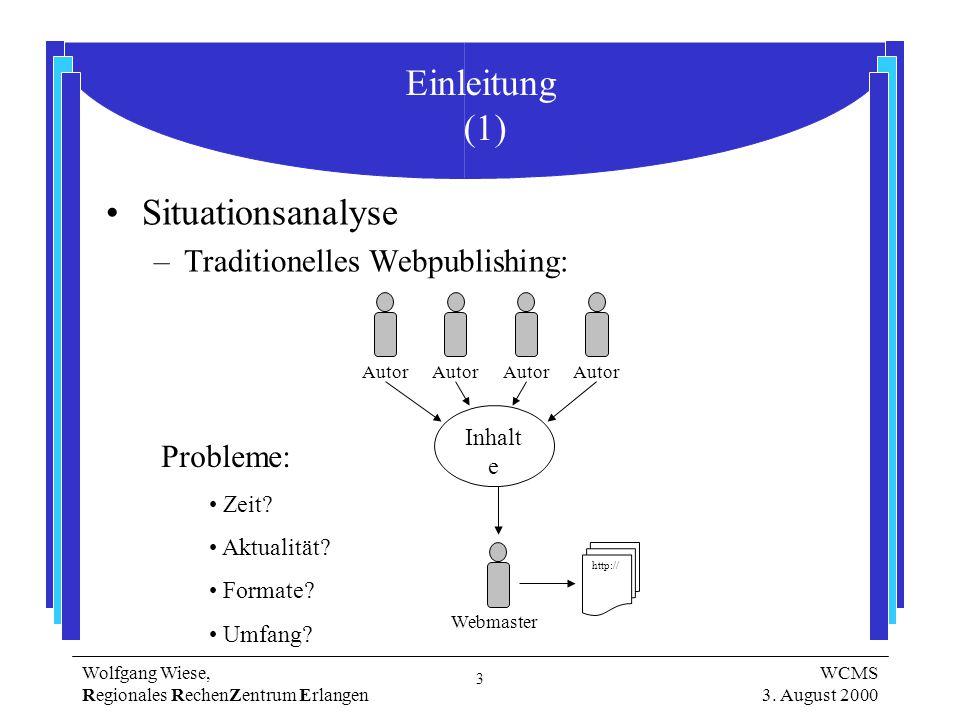 3 Wolfgang Wiese, Regionales RechenZentrum Erlangen WCMS 3.