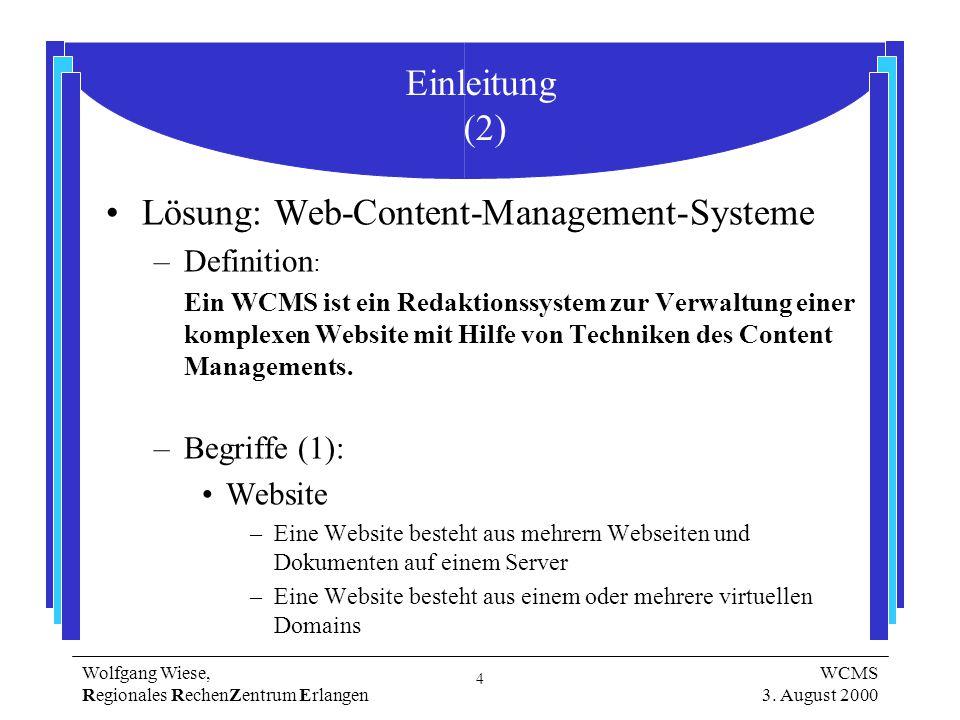 4 Wolfgang Wiese, Regionales RechenZentrum Erlangen WCMS 3.