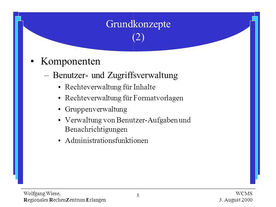 8 Wolfgang Wiese, Regionales RechenZentrum Erlangen WCMS 3.