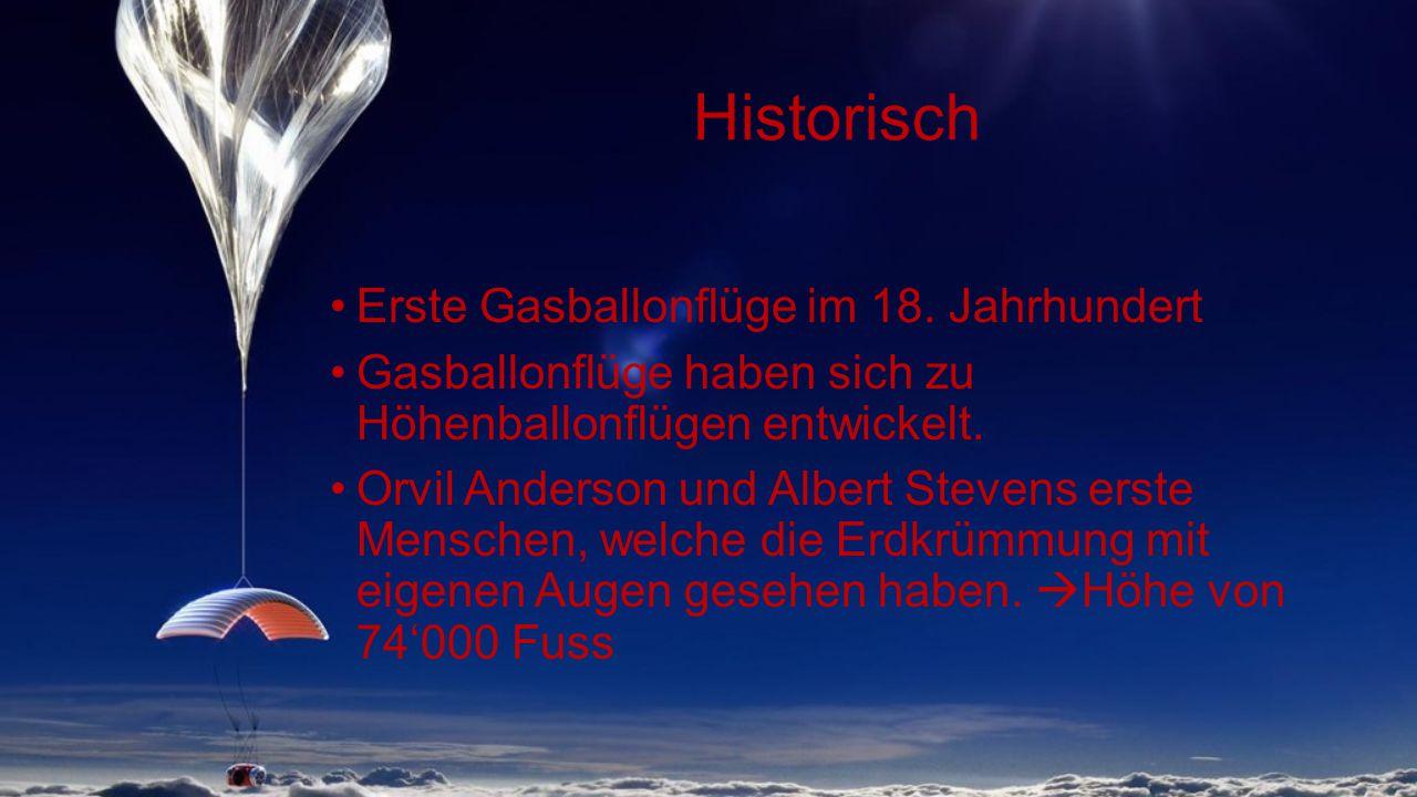 Historisch Erste Gasballonflüge im 18.