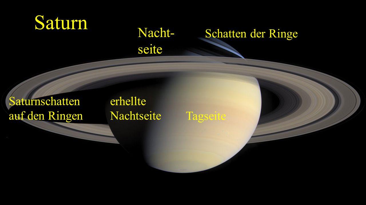 Das Ringsystem (2) Aufnahme gegen das Sonnenlicht.