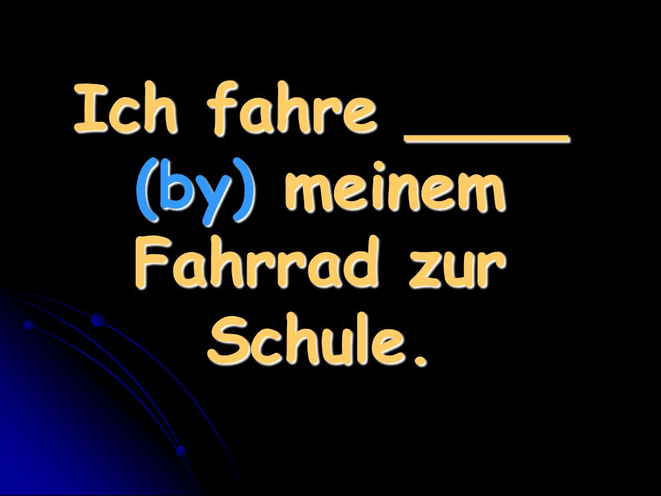 Ich gehe _____ (to the-use contraction) Party (f).