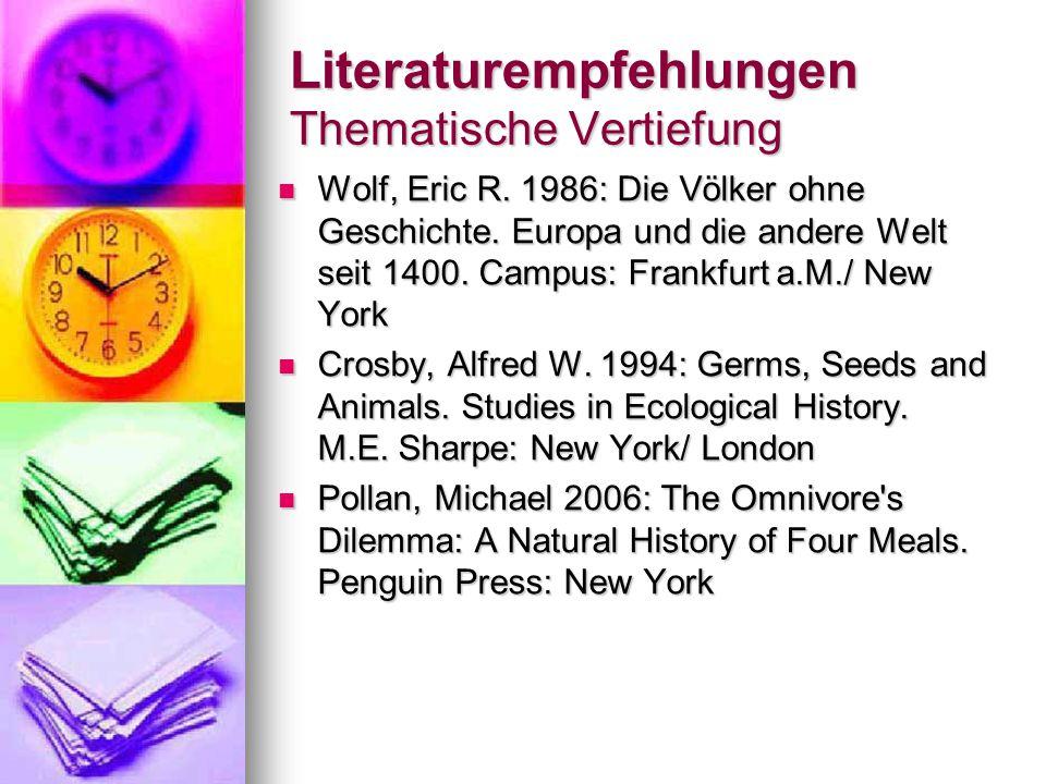Literaturempfehlungen Thematische Vertiefung Wolf, Eric R.