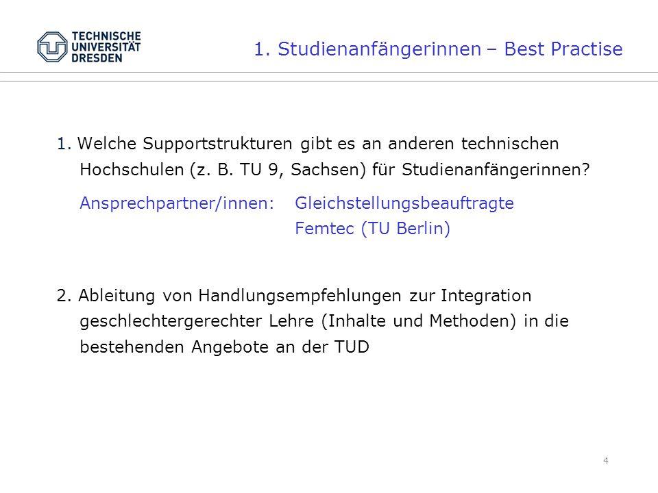 4 1. Welche Supportstrukturen gibt es an anderen technischen Hochschulen (z.