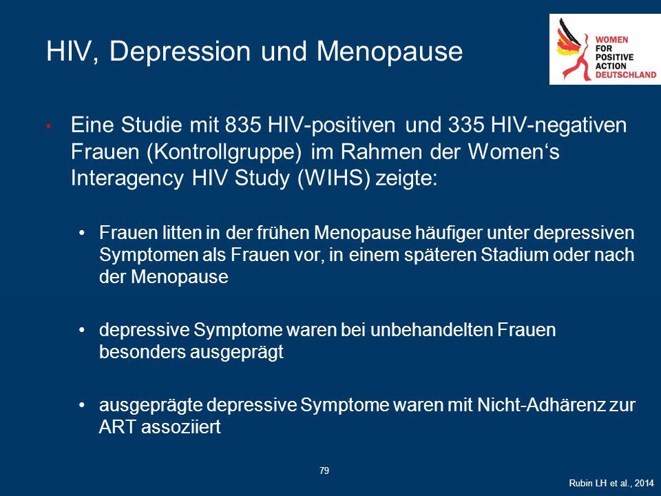 79 HIV, Depression und Menopause Eine Studie mit 835 HIV-positiven und 335 HIV-negativen Frauen (Kontrollgruppe) im Rahmen der Women's Interagency HIV