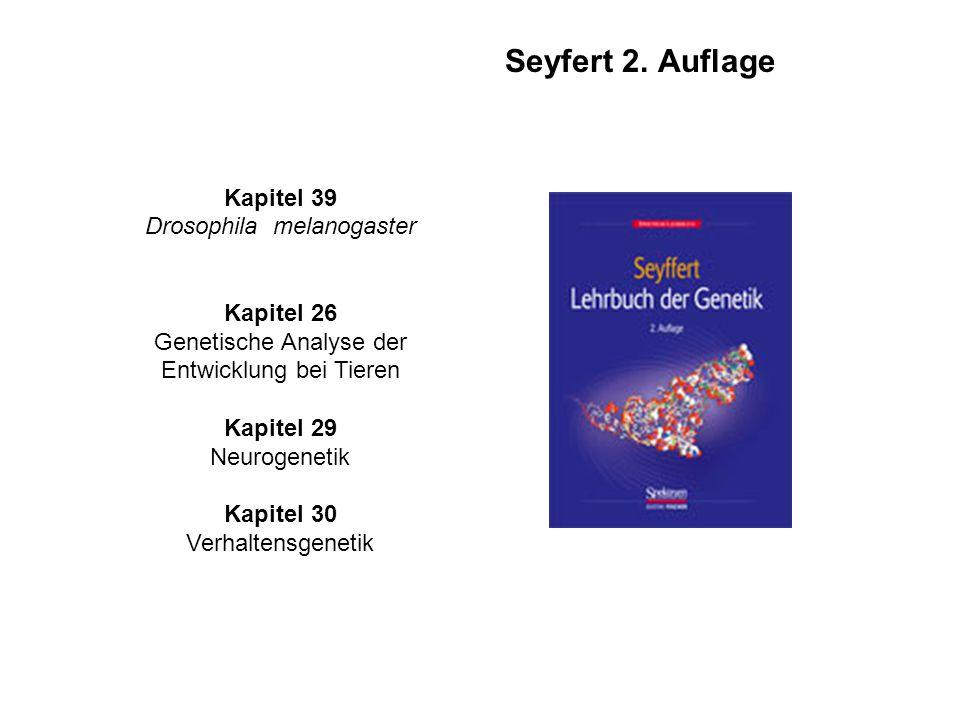 Bücher zu den Vorlesungen (Fischbach ) Kapitel 14 Modellsystem D. melanogaster Kapitel 33 Entwicklung und Differenzierung Kapitel 34 Neurogenetik ist