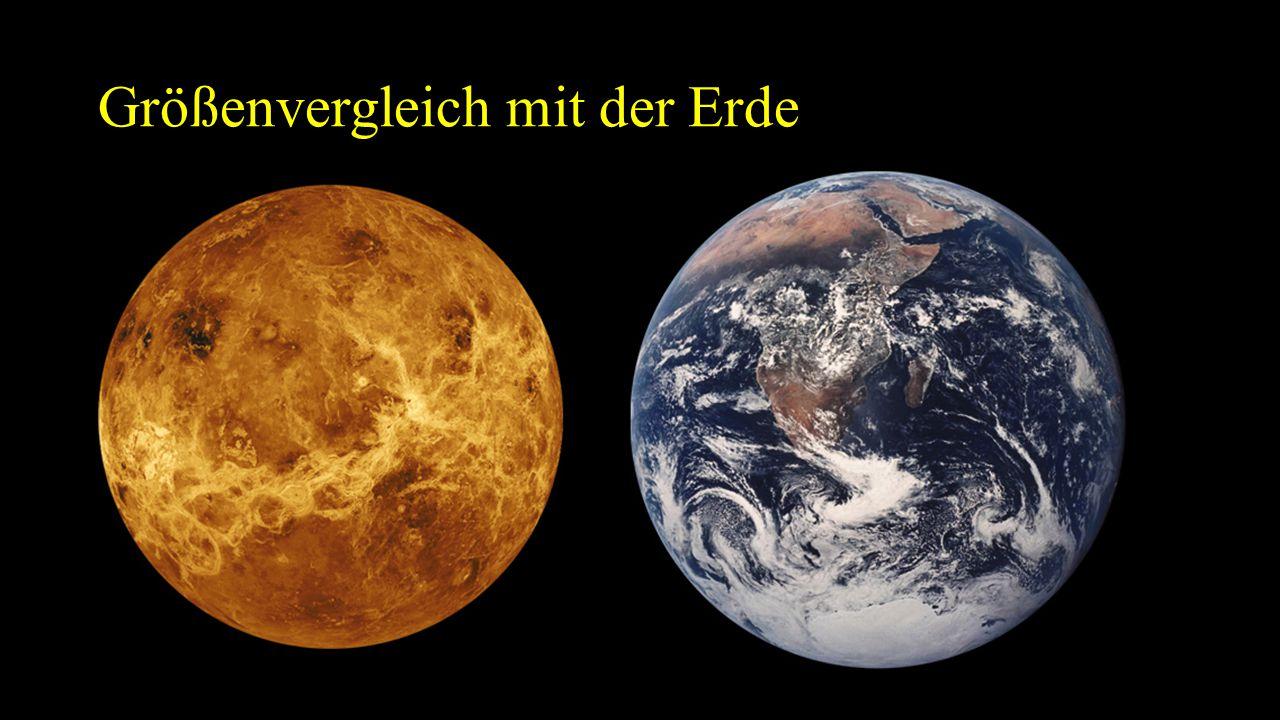 Größenvergleich mit der Erde