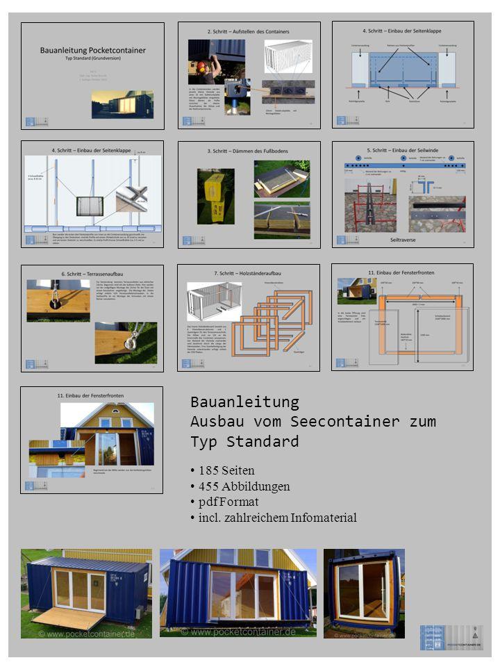 Bauanleitung Ausbau vom Seecontainer zum Typ Standard 185 Seiten 455 Abbildungen pdf Format incl. zahlreichem Infomaterial