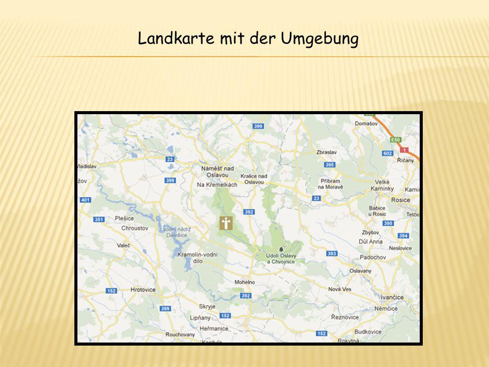 Landkarte mit der Umgebung