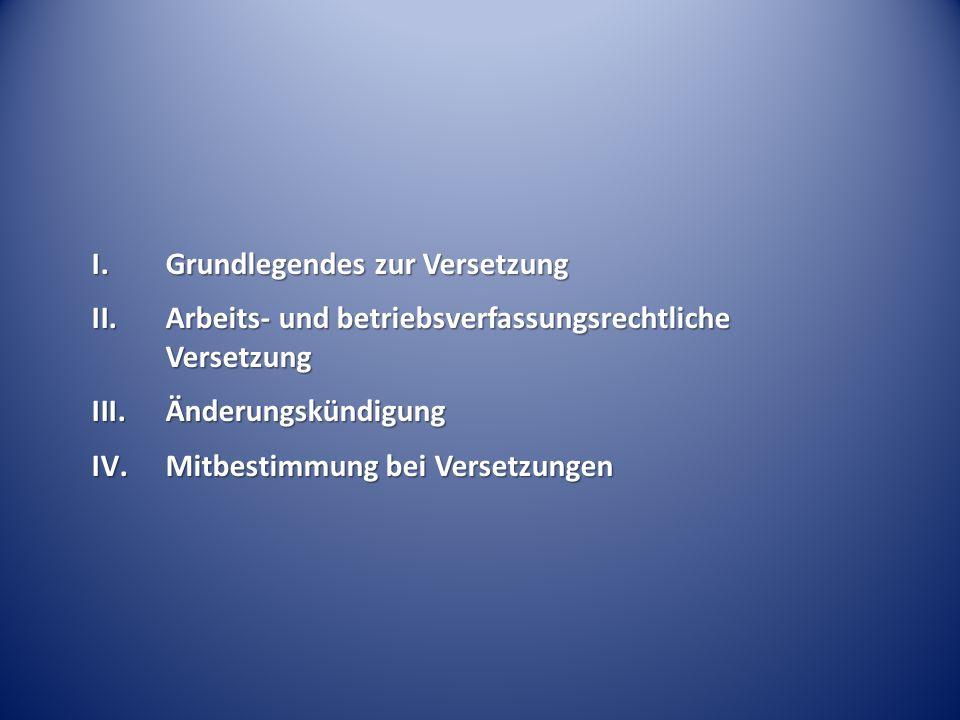 Beteiligungsrechte des Betriebsrates § 102 BetrVG wie bei einer Beendigungskündigung hat der BR aufgrund des Beendigungsteils das Anhörungsrecht des § 102 BetrVG; aus der Nichtanhörung bzw.