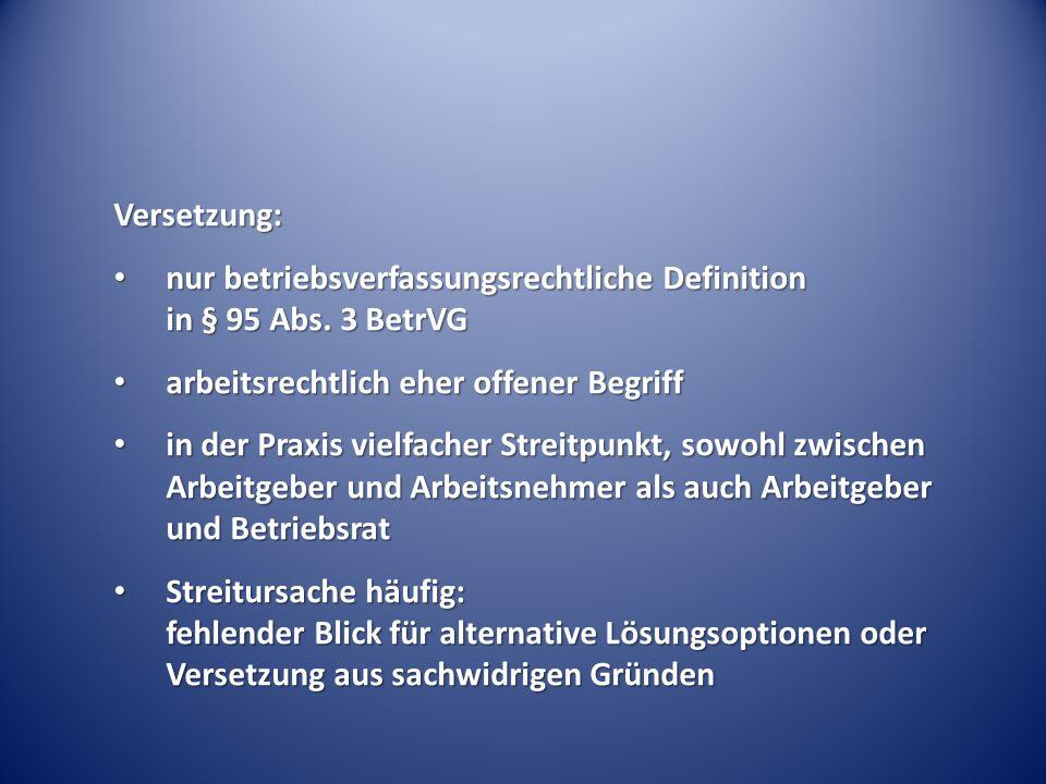 (Temporäre) Versetzungen unter Konzernunternehmen § 1 Abs.