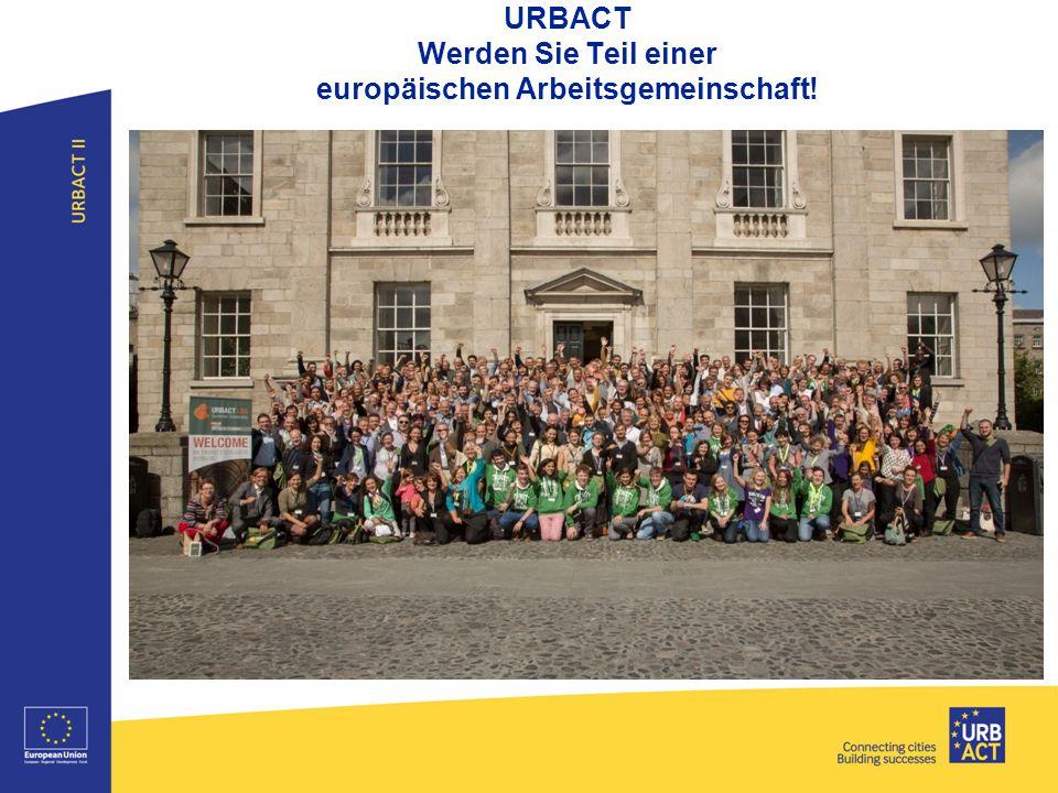URBACT Werden Sie Teil einer europäischen Arbeitsgemeinschaft!