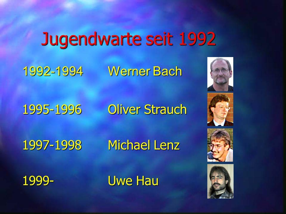 Jugendwarte seit 1992 1992-1994 Werner Bach 1995-1996 Oliver Strauch 1997-1998 Michael Lenz 1999-Uwe Hau