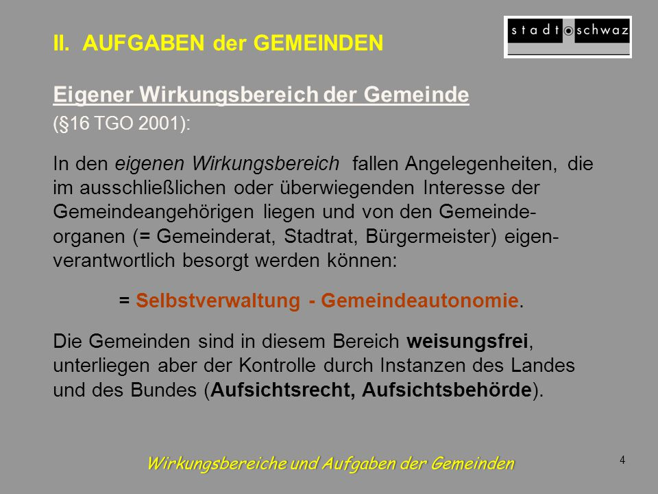 Die Abteilungen des Stadtamtes in Schwaz Stadtamt – innerer Dienst Bauamt (inkl.