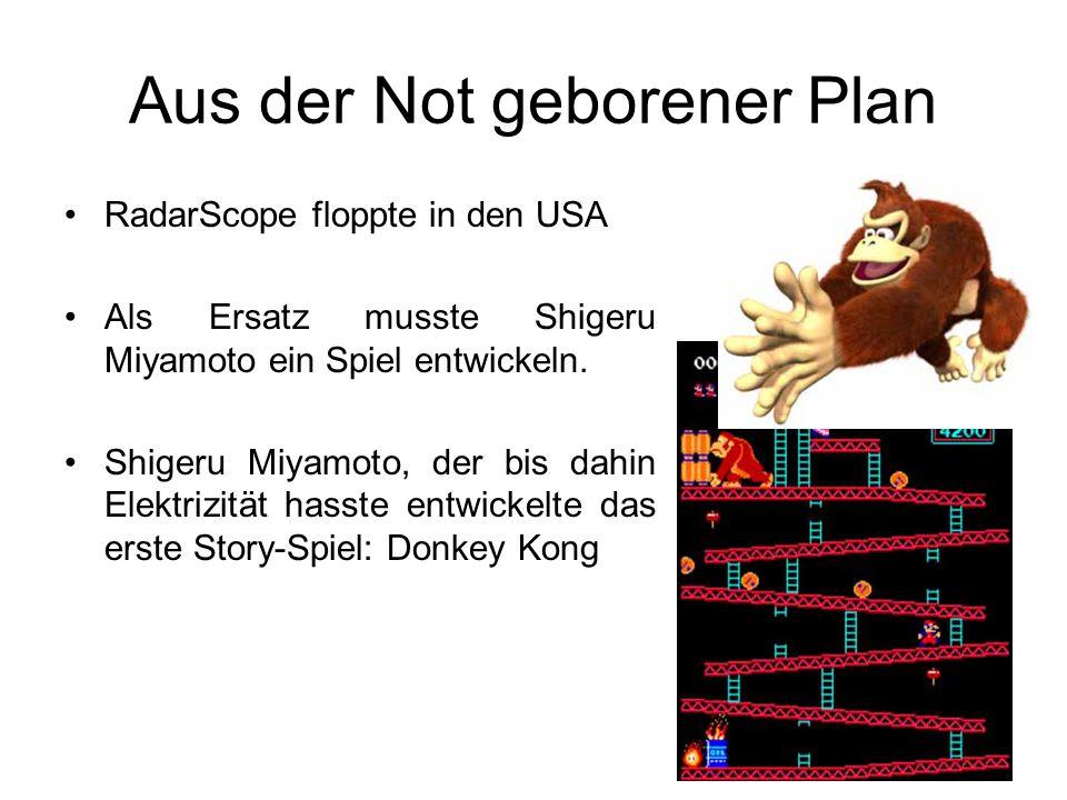 Aus der Not geborener Plan RadarScope floppte in den USA Als Ersatz musste Shigeru Miyamoto ein Spiel entwickeln.