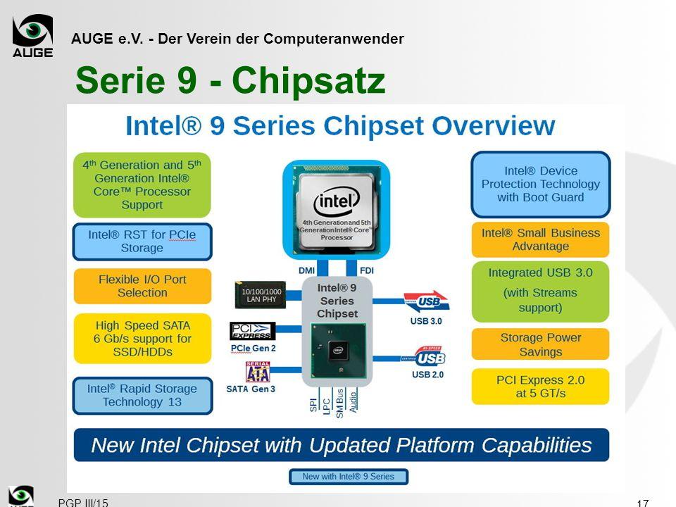 AUGE e.V. - Der Verein der Computeranwender Serie 9 - Chipsatz 17 PGP III/15