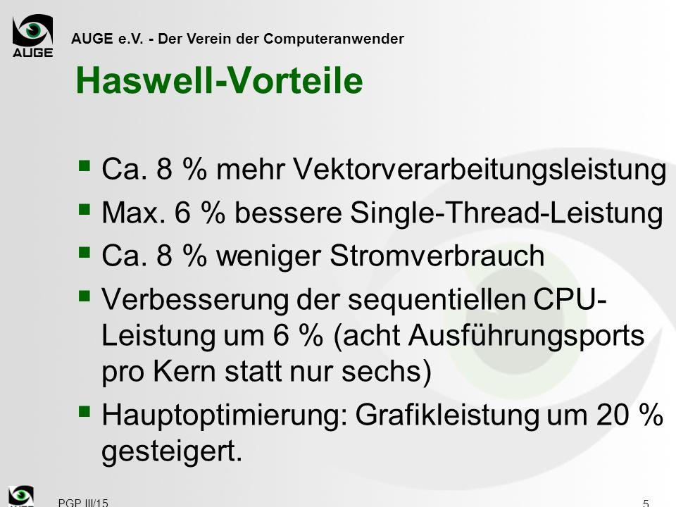 AUGE e.V. - Der Verein der Computeranwender Haswell-Vorteile  Ca.