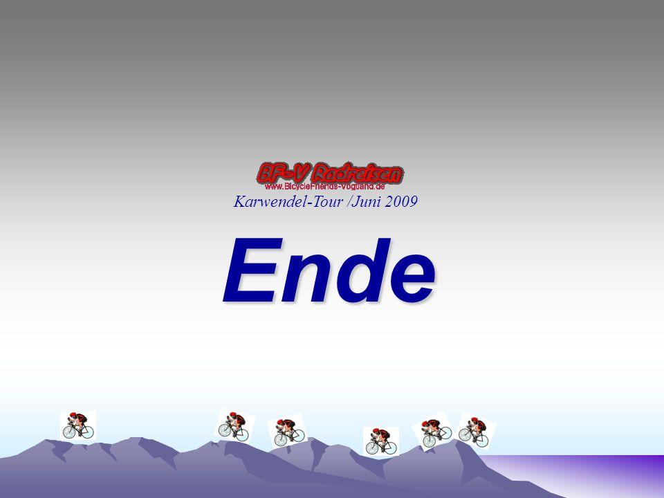 Ende Karwendel-Tour /Juni 2009