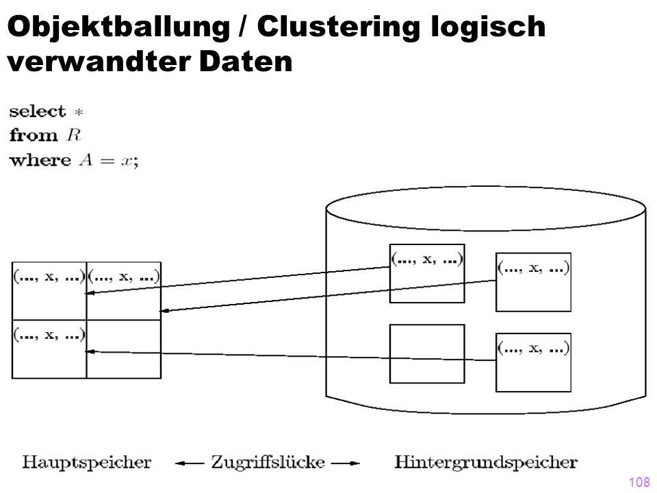 108 Objektballung / Clustering logisch verwandter Daten