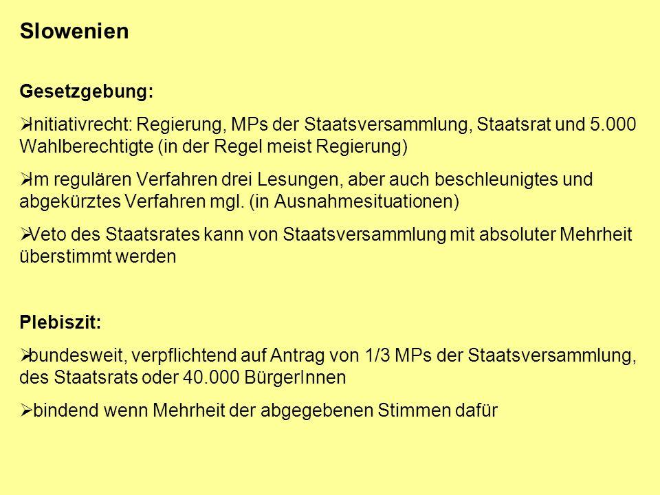 Slowenien Regierung: Laut Vfg.