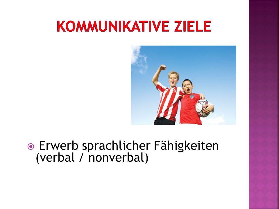  Erwerb sprachlicher Fähigkeiten (verbal / nonverbal)