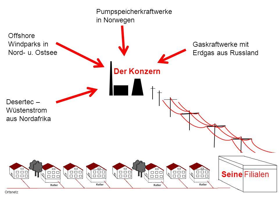 Der Konzern Desertec – Wüstenstrom aus Nordafrika Offshore Windparks in Nord- u.
