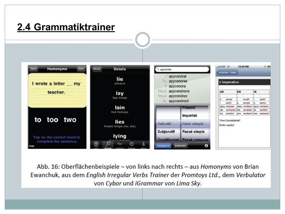 2.4 Grammatiktrainer