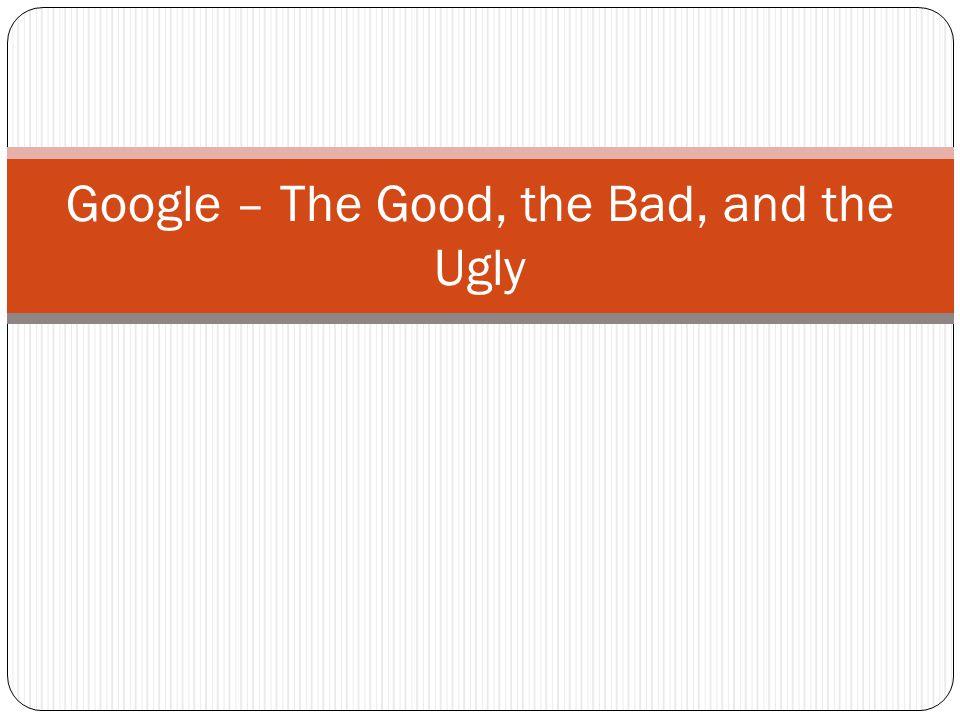 Wir kennen Google so: