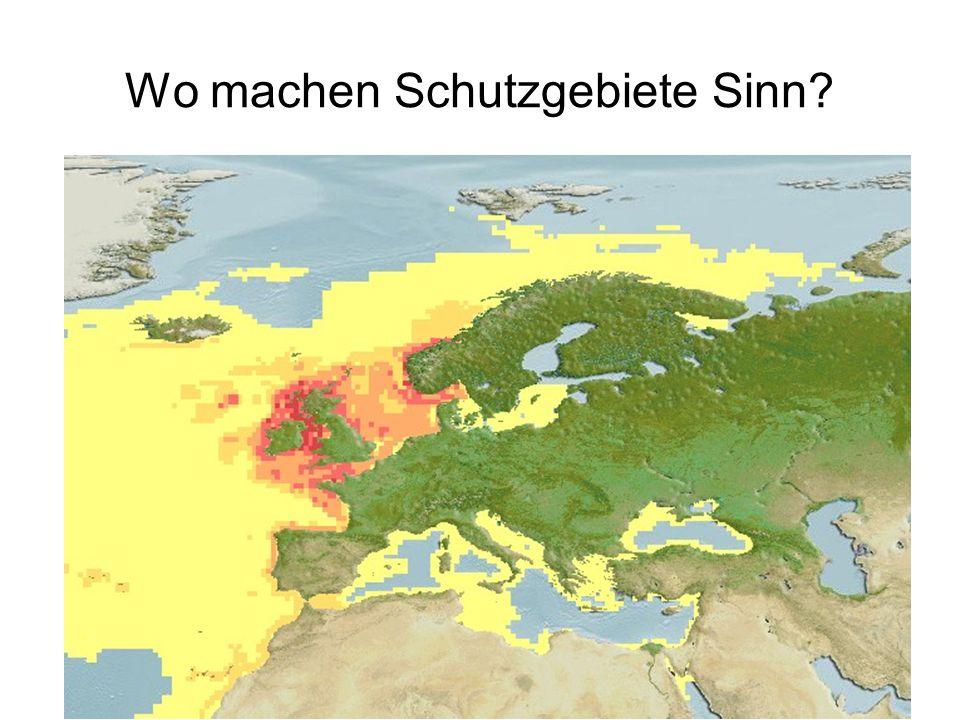 Wo machen Schutzgebiete Sinn?