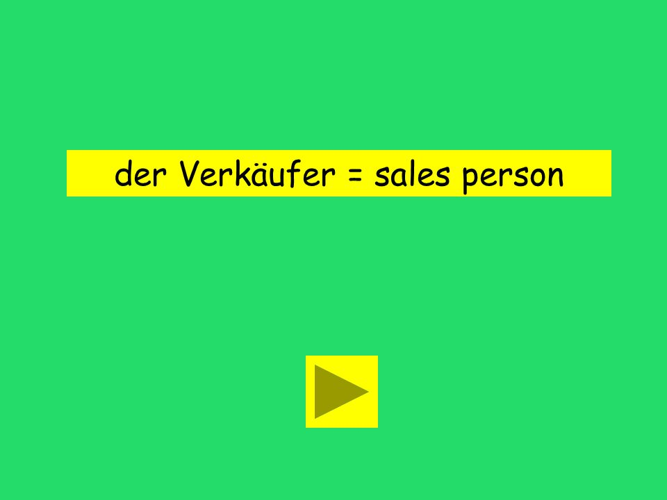 Der Verkäufer ist da, hinter der Kasse! returned item fire alarmsales person