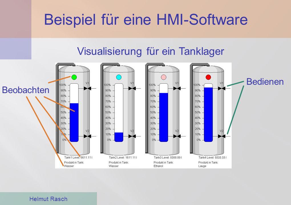 Beispiel für eine HMI-Software Helmut Rasch Bedienen Beobachten Visualisierung für ein Tanklager