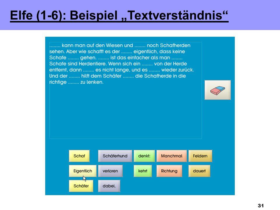 """31 Elfe (1-6): Beispiel """"Textverständnis"""