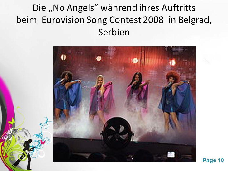 """Free Powerpoint TemplatesPage 10 Die """"No Angels während ihres Auftritts beim Eurovision Song Contest 2008 in Belgrad, Serbien"""