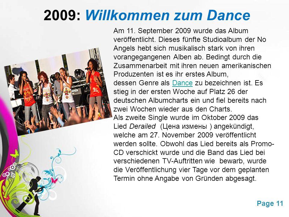 Free Powerpoint TemplatesPage 11 2009: Willkommen zum Dance Am 11.