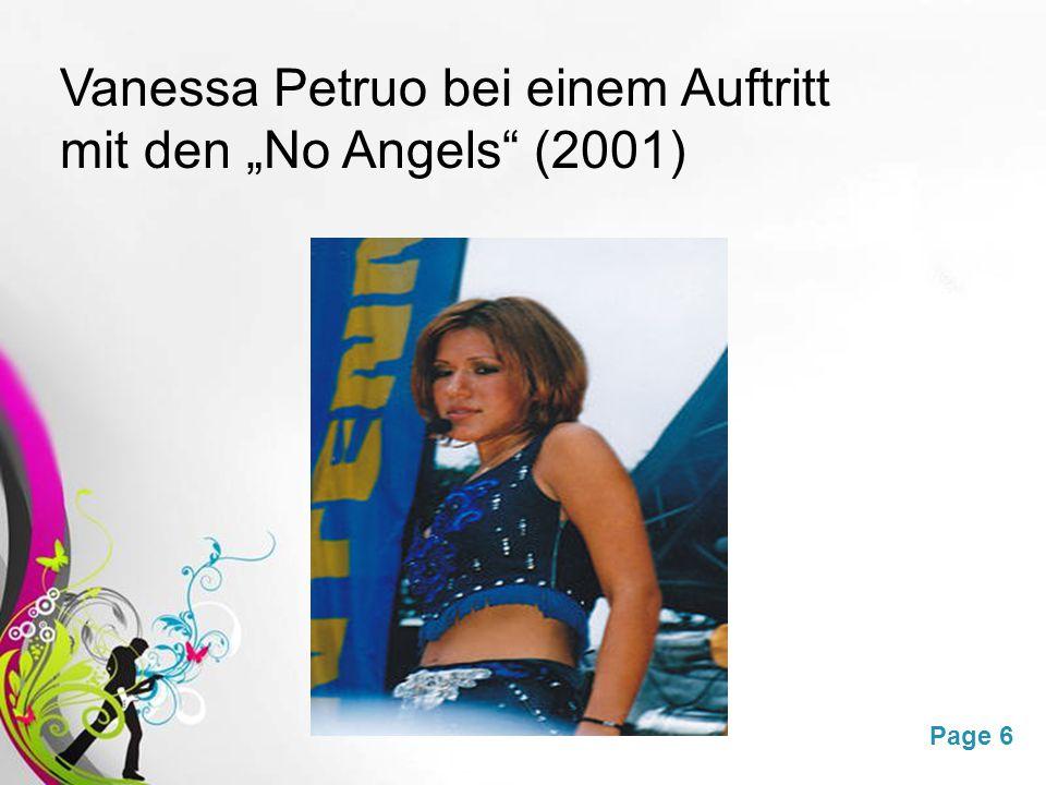 """Free Powerpoint TemplatesPage 6 Vanessa Petruo bei einem Auftritt mit den """"No Angels (2001)"""