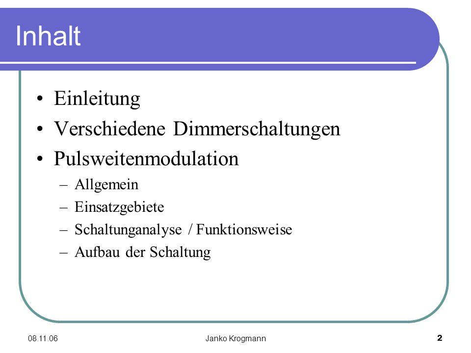 """08.11.06Janko Krogmann13 Projektanwendung? Meinungen """"leicht zu realisieren … Diskussion …"""