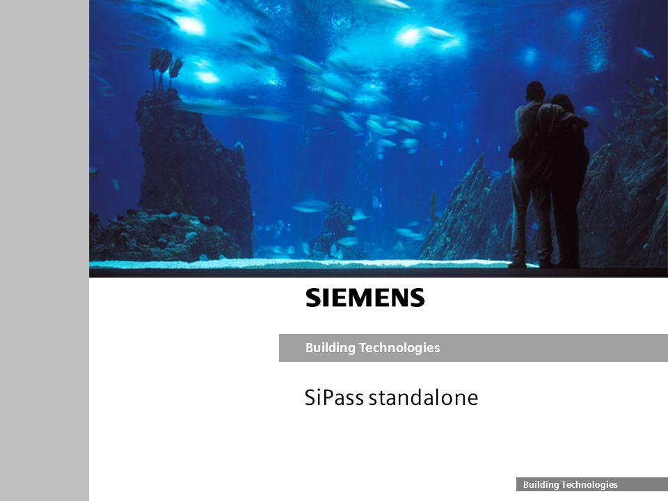 Building Technologies SiPass standalone
