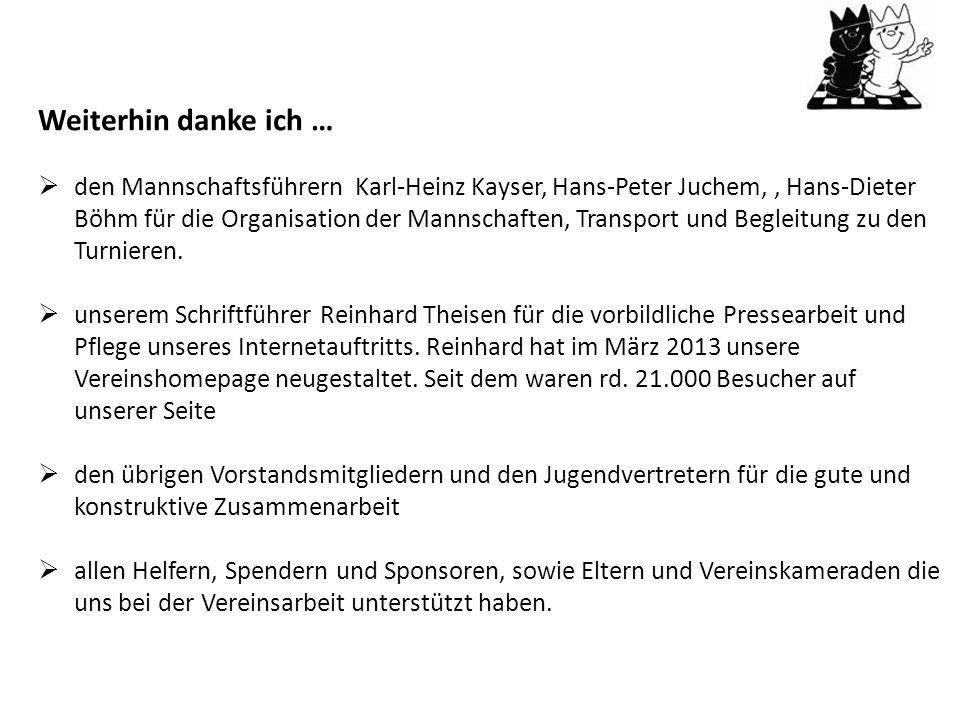 Matthias hat im Jahr 2013 besonders viel für den Verein geleistet: Neben der Kassenführung machte er die Steuerklärung für den Verein, besuchte Kurse