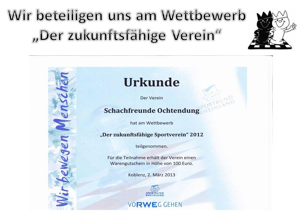  Kostenbeteiligung des Vereins bei Teilnahme an der Rheinland-Meisterschaft  Organisation und Durchführung des 5-jährigen Vereinsjubiläums  Übernah