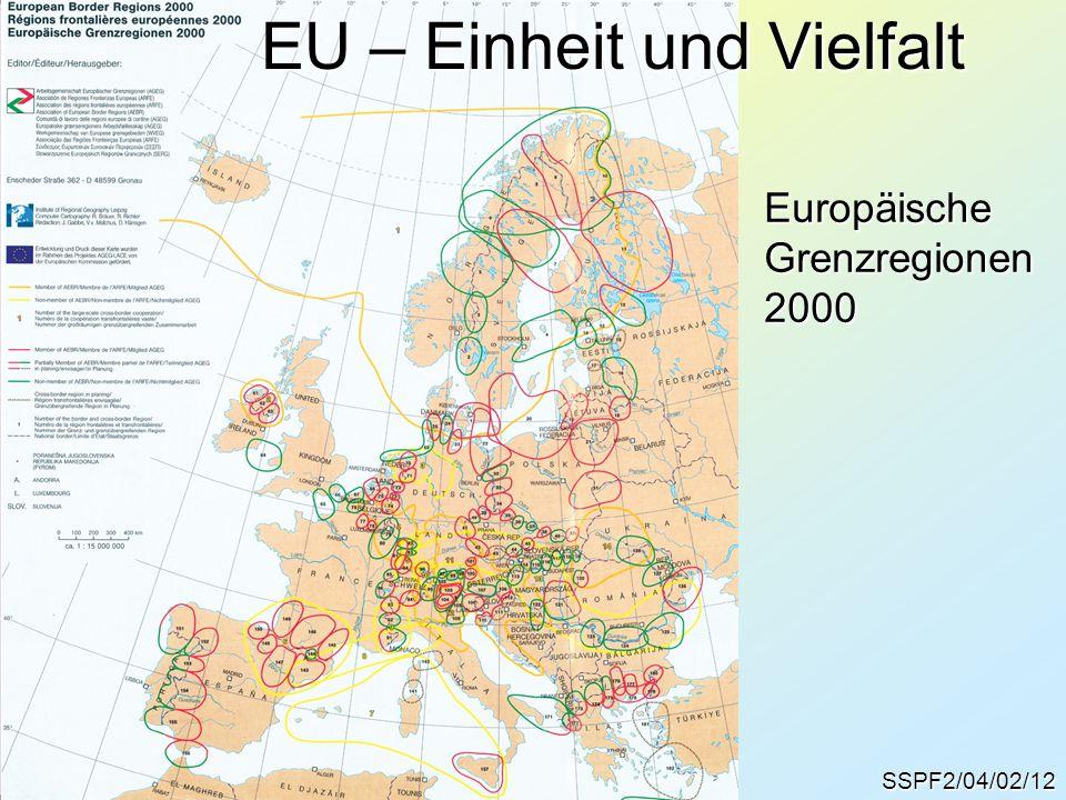 SSPF2/04/02/12 EU – Einheit und Vielfalt EuropäischeGrenzregionen2000
