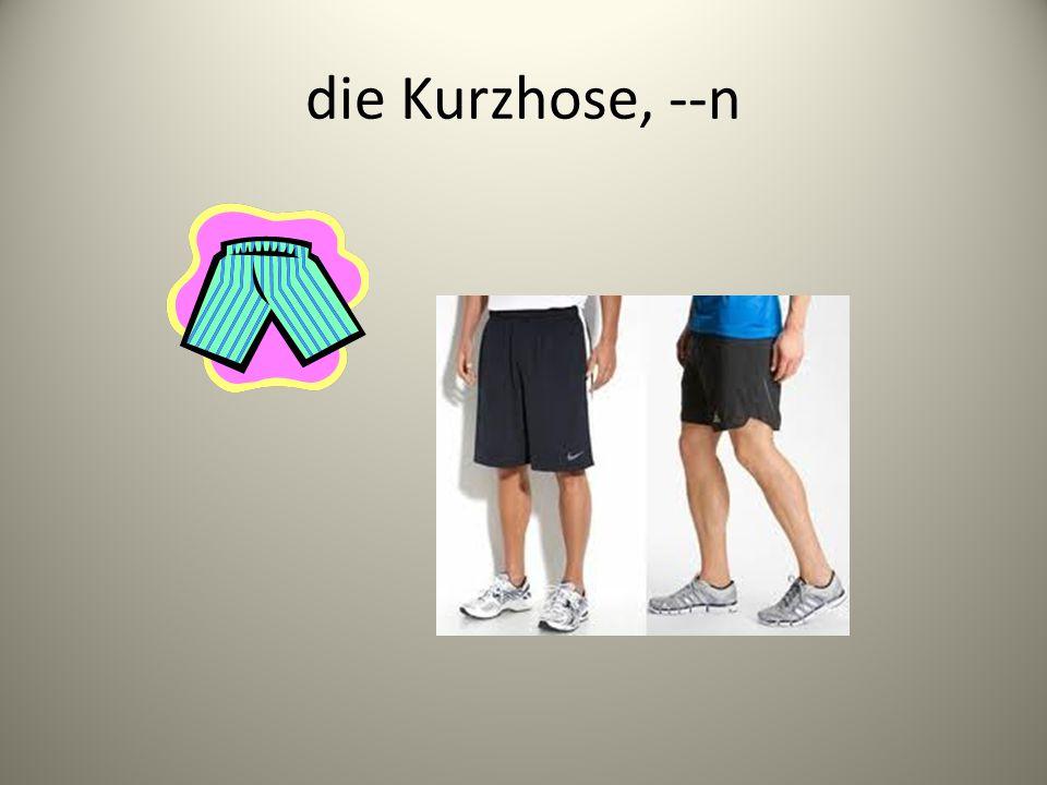 Adjektive, die Kleidung beschreiben:
