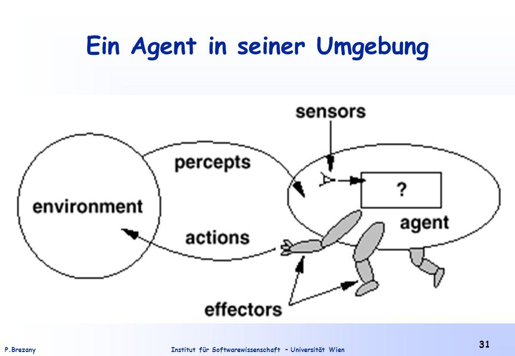 Institut für Softwarewissenschaft – Universität WienP.Brezany 31 Ein Agent in seiner Umgebung
