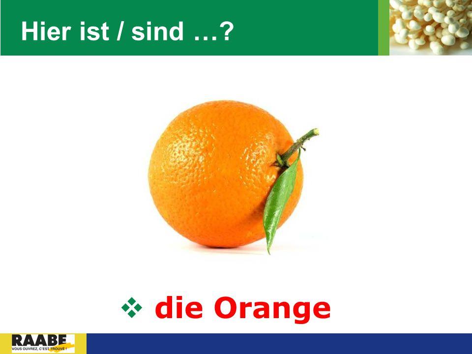 LOGO Hier ist / sind …?  die Orange