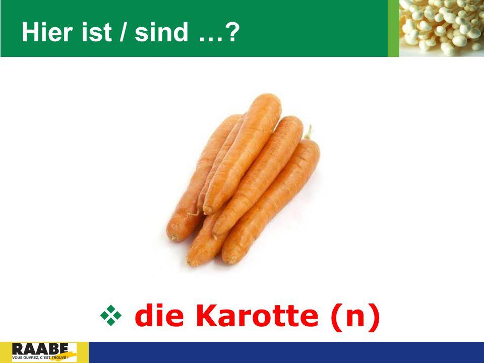LOGO Hier ist / sind …?  die Karotte (n)