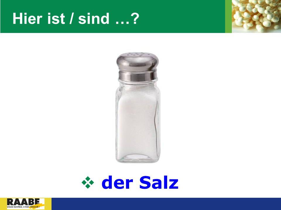 LOGO Hier ist / sind …?  der Salz
