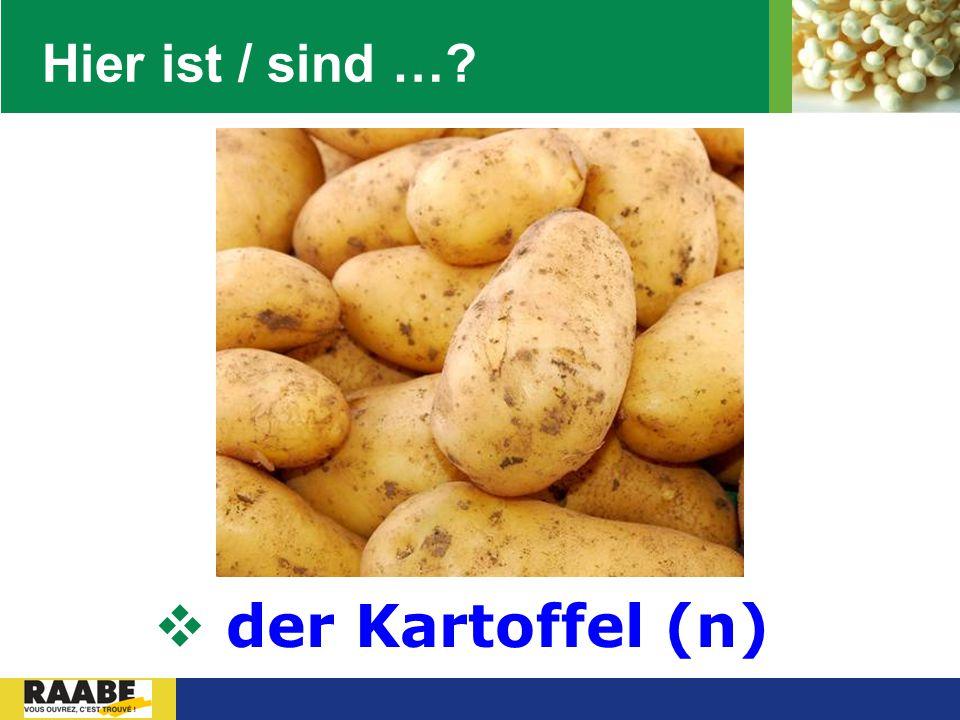 LOGO Hier ist / sind …?  der Kartoffel (n)