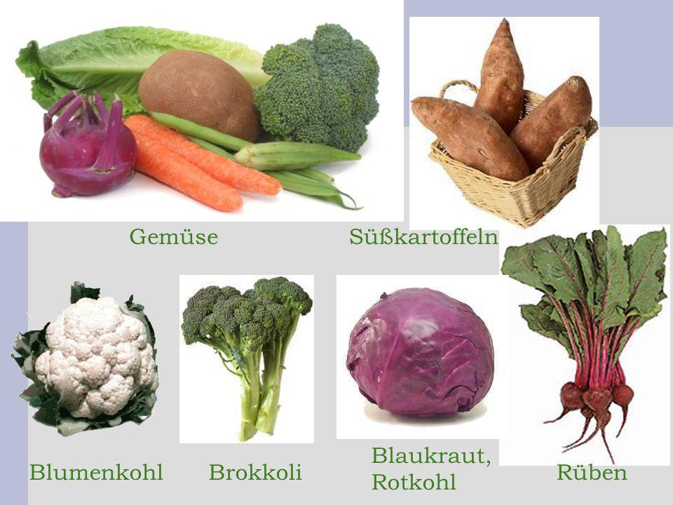 Blumenkohl Blaukraut, Rotkohl BrokkoliRüben GemüseSüßkartoffeln