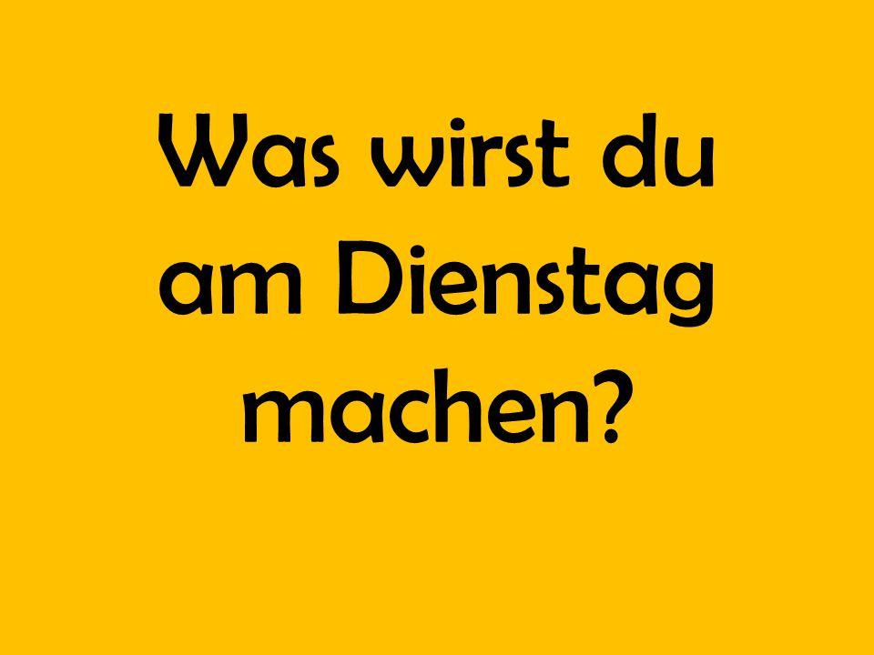 He will eat Schnitzel. Yum!