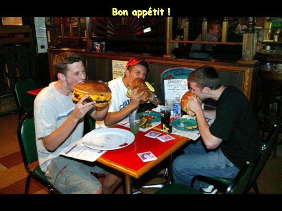 Die Hamburgers haben einen Durchmesser von 30 cm!