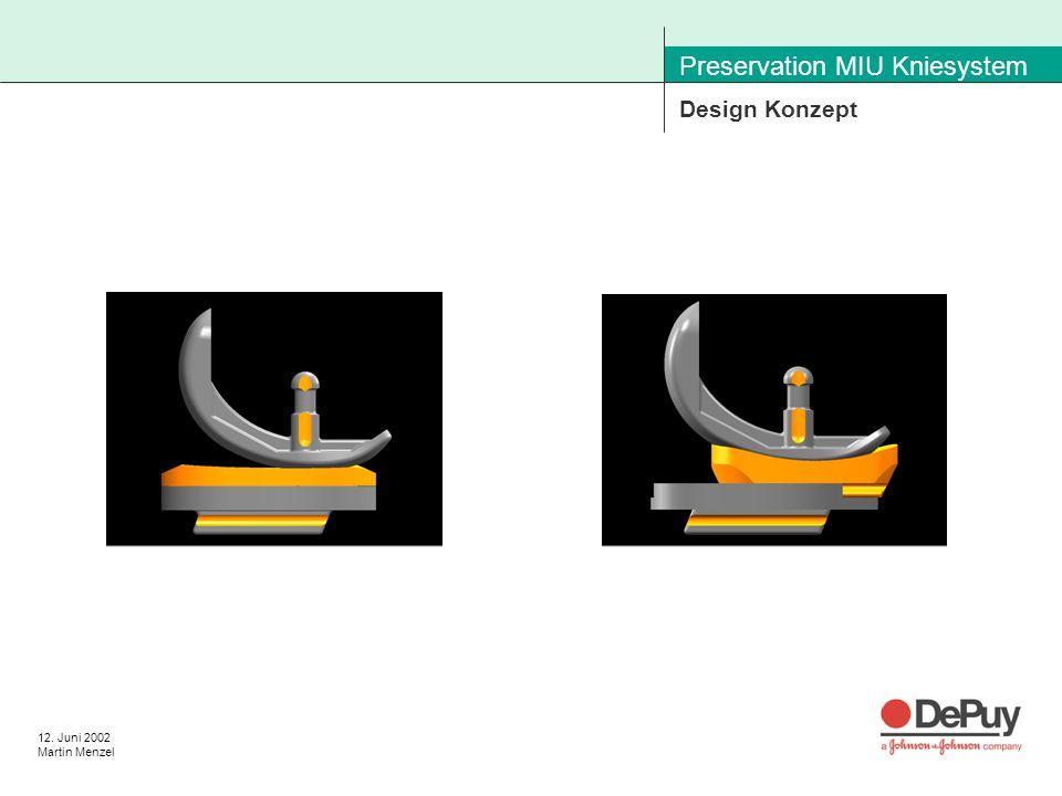 12. Juni 2002 Martin Menzel Preservation MIU Kniesystem Design Konzept